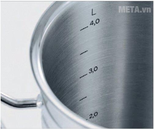 Bộ nồi 4 món Fissler Original Pro với vạch báo mực nước