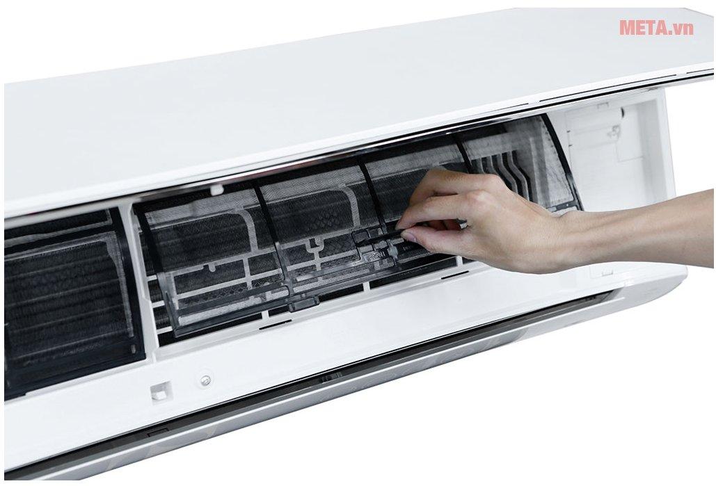 Điều hòa Panasonic 1 chiều Inverter 18.000 BTU CU/CS-U18TKH-8 dễ dàng vệ sinh