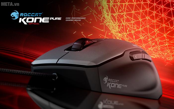 Chuột Gaming Kone Pure Optical khoác lên mình ngoại hình mạnh mẽ