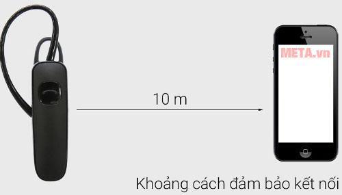Tai nghe Plantronics ML15 có khả năng kết nối đến 10m
