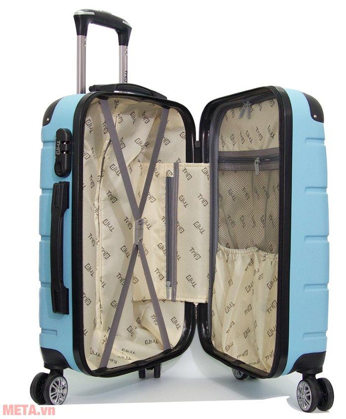 Vali kéo Trip P701 cỡ 50cm có dây đai cố định hành lý chắc chắn Vali kéo Trip P701 cỡ 50cm có dây đai cố định hành lý chắc chắn