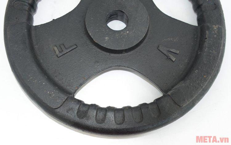 Tạ đĩa gang 2 kg có bề mặt nhẵn mịn tránh sát thương