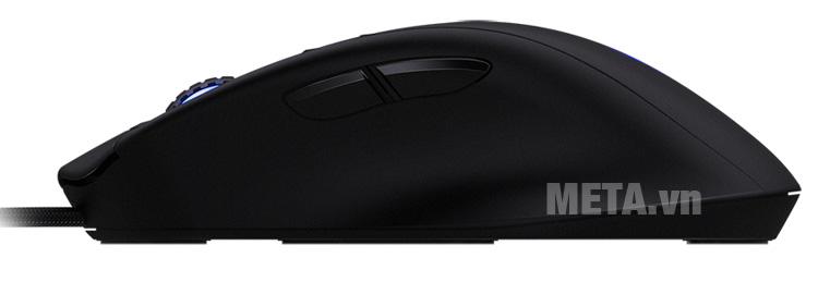 Chuột Gaming Mionix NAOS 7000 Multi-Color Ergonomic Optical có 2 nút ấn phía bên cạnh tiện dụng