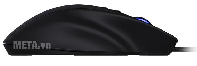 Chuột Gaming Mionix NAOS 7000 Multi-Color Ergonomic Optical có mặt lõm bên cạnh tay cầm giúp ngón tay thoải mái hơn