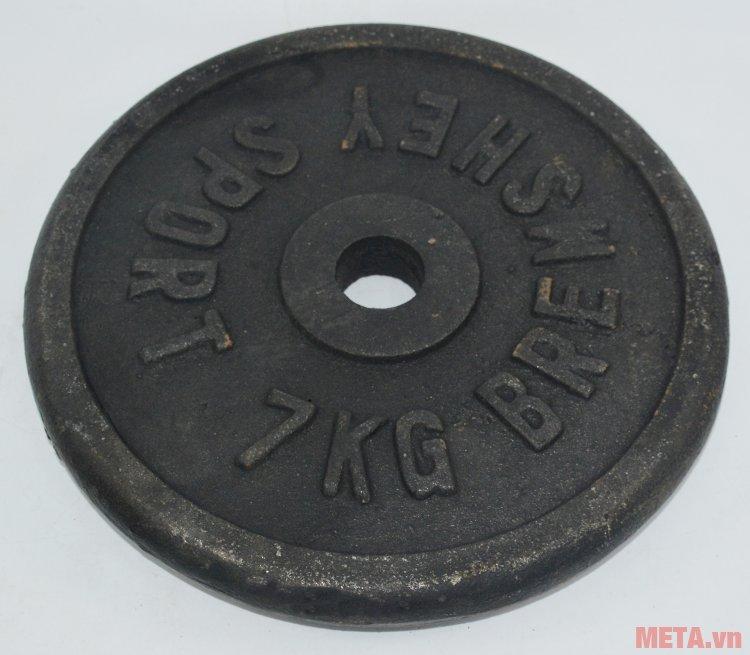 Tạ đĩa 7 kg dùng tập thể hình bài tập đẩy thanh đòn