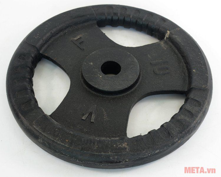Tạ đĩa gang 10 kg dùng kết hợp với đòn tạ