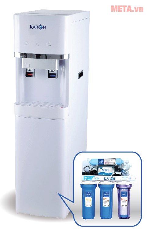 Cây nóng lạnh Karofi tích hợp RO HC300-RO