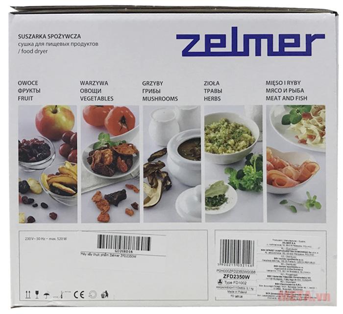Vỏ hộp của máy sấy thực phẩm Zelmer ZFD2350W