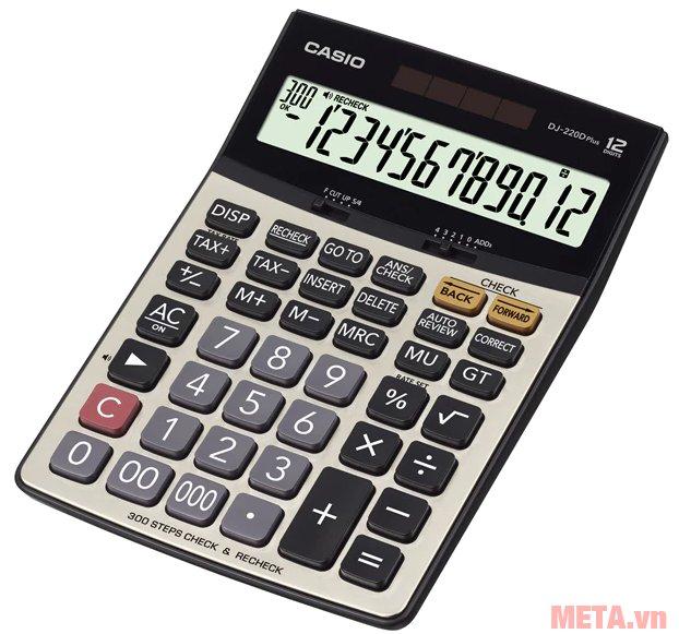 Máy tính Casio DJ-220D Plus có tính năng tính thuế và tỷ lệ % lợi nhuận