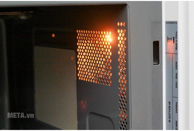 Lò vi sóng Sharp R-G371VN-W 23 lít có đèn bên trong lò