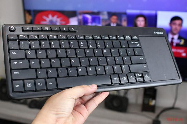 Bán phím được thiết kế nhỏ gọn, có thể đặt được ở mọi vị trí