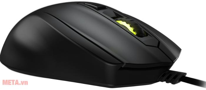 Castor được thiết kế để hỗ trợ 3 kiểu cầm chuột khi sử dụng là palm, claw hay fingertip-grip