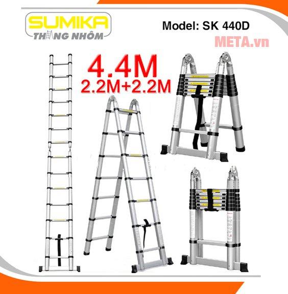 Thang nhôm rút gọn Sumika SK 440D