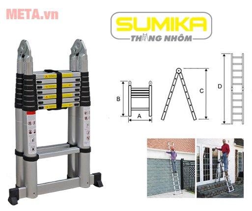 Thang nhôm rút gọn Sumika SK500D