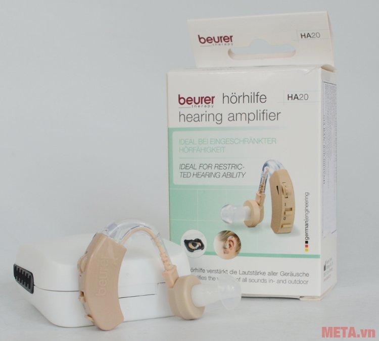 Máy trợ thính Beurer HA20 có nút tai mềm, đeo không gây khó chịu