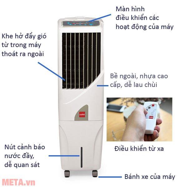 Máy làm mát Air Cooler Cello Tower 25 có cấu tạo đơn giản