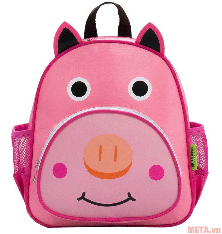 Balo mẫu giáo con heo B-12-008 có màu hồng tươi sáng phù hợp với bé gái