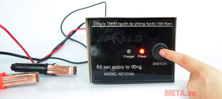 Máy nạp ắc quy tự động Apollo AC1210A.