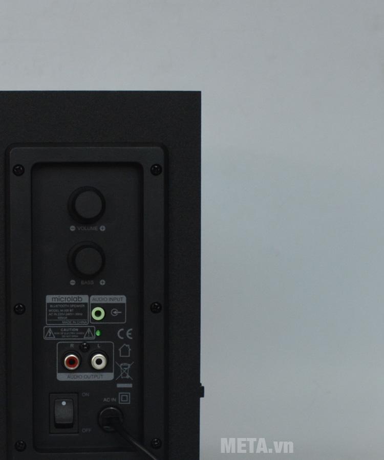 Bảng điều khiển của loa máy tính Microlab M300BT