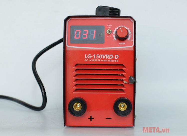 Máy hàn điện tử Legi LG-150VRD-D có đèn led thể hiện thông số rõ ràng