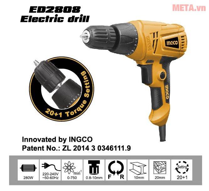 Máy khoan INGCO ED2808