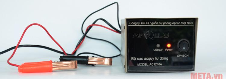 Máy nạp ắc quy tự động Apollo AP1210C với thiết kế cách điện