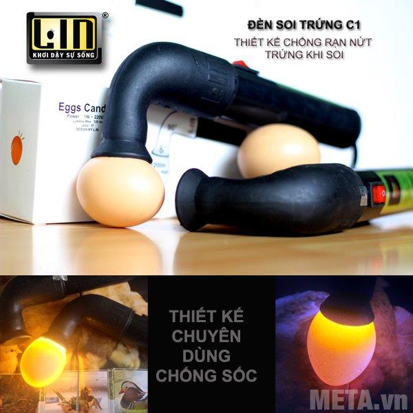 Đèn soi trứng Lin C1 dùng để soi trứng gà, trứng vịt, trứng ngỗng.