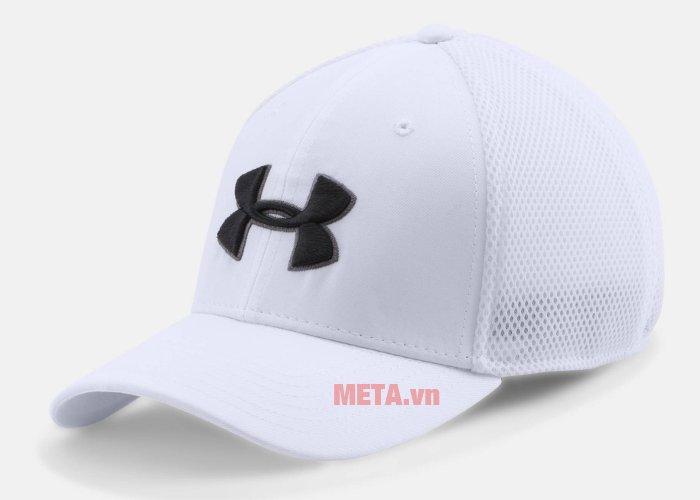 Mũ golf nam Mesh Stretch 2.0 Cap Under Armour 1273280 màu White/Black