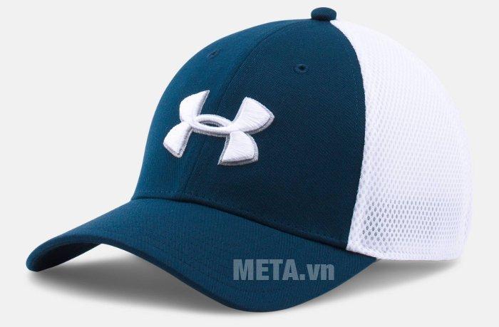 Mũ golf nam Mesh Stretch 2.0 Cap Under Armour 1273280 màu Academy/White
