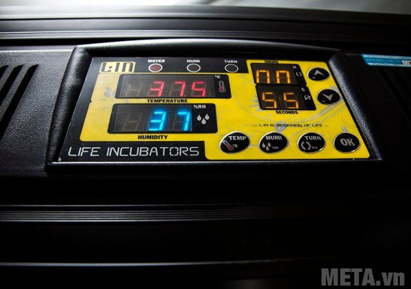 áy ấp trứng điều áp BALANCE Lin LDI-400 có đèn báo trạng thái hoạt động hệ thống ẩm