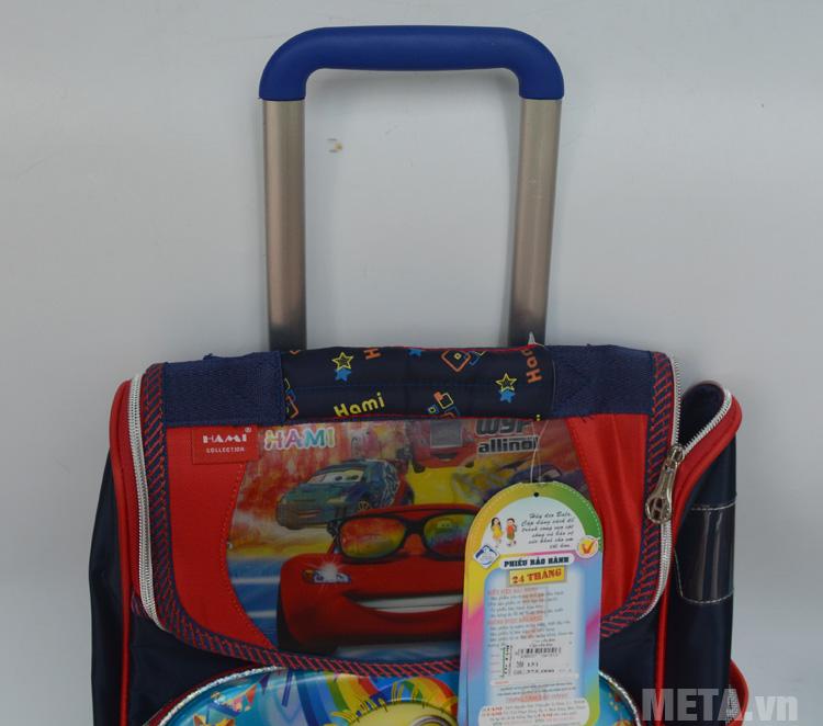 Balo kéo tiểu học Minion có cần kéo tiện dụng