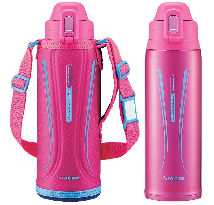 Bình giữ nhiệt lưỡng tính Zojirushi SD-EC10 - 1 lít màu hồng