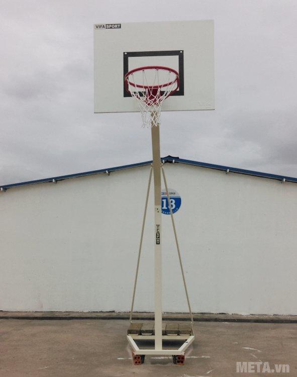 Trụ bóng rổ trường học 801829 có độ cao vành rổ tới 3.050mm