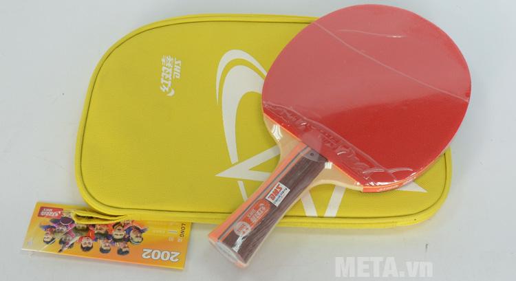 Vợt bóng bàn mút DHS-2002 có mặt màu đỏ