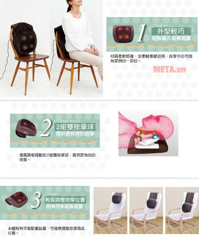 Bạn có thể để máy trên nhiều vị trí khác nhau khi massage