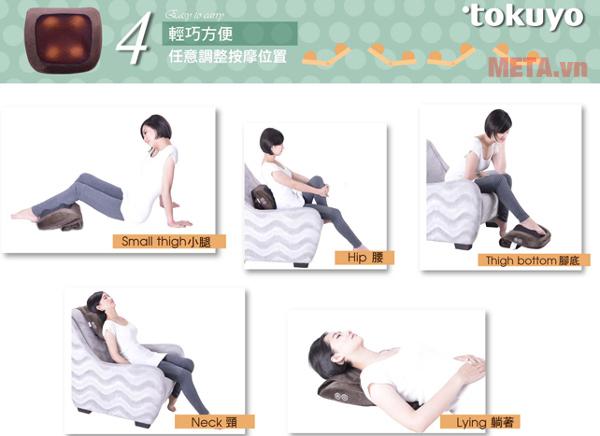 Máy có khả năng massage và châm cứu nhiều vùng trên cơ thể