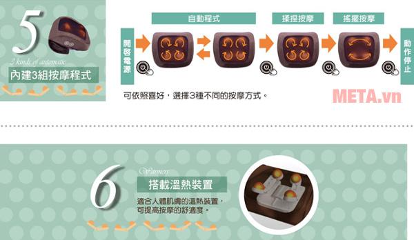 Cơ chế hoạt động của máy massage Tokuyo TH-512