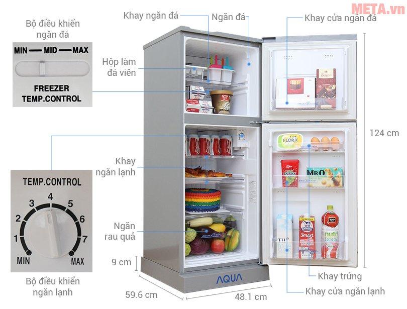 Tủ lạnh Aqua AQR-145BN SS