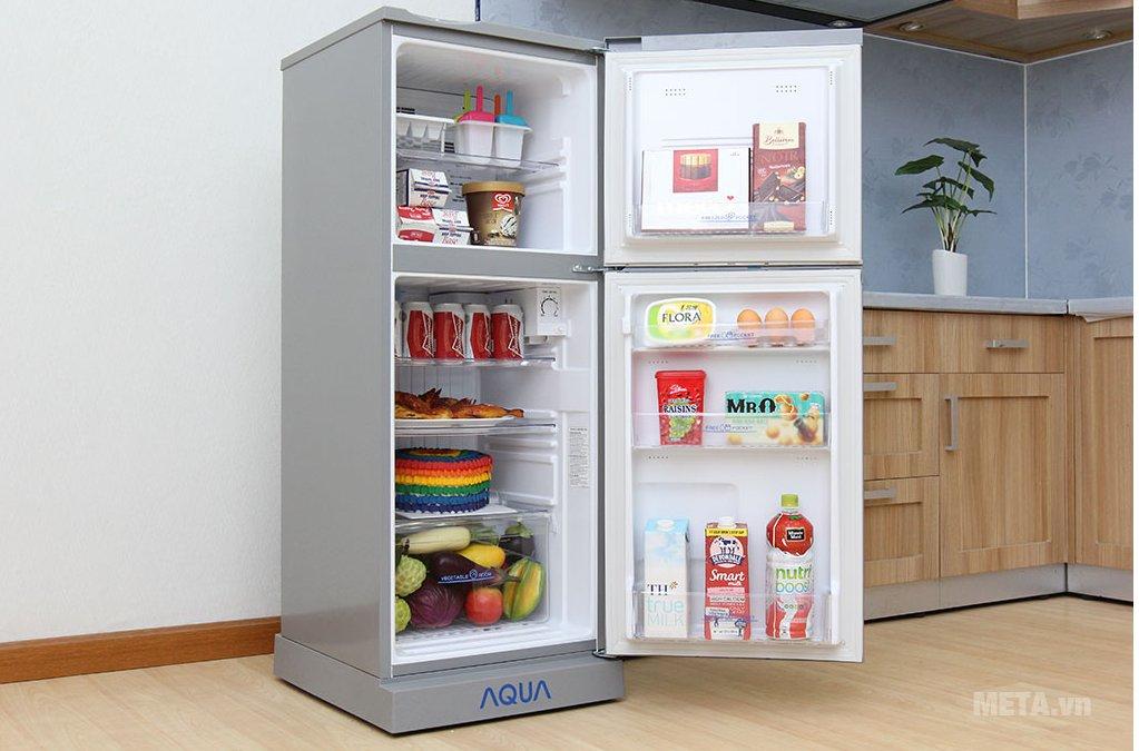 Tủ lạnh Aqua AQR-145BN SS có dung tích 130 lít