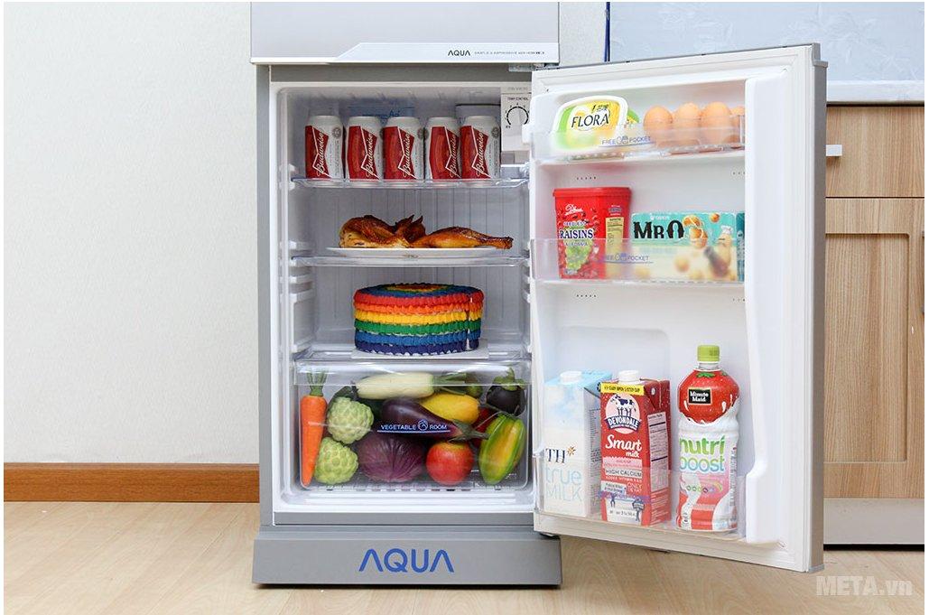 Tủ lạnh Aqua AQR-145BN SS với ngăn lạnh