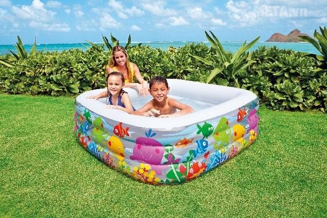 Hình ảnh của bể bơi INTEX đại dương vuông 57471