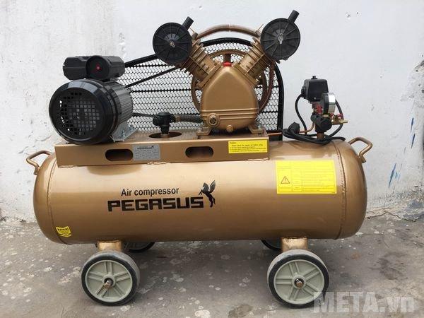 Máy nén khí Pegasus TM-V-0.25/8 (380V) trang bị 4 bánh xe di chuyển