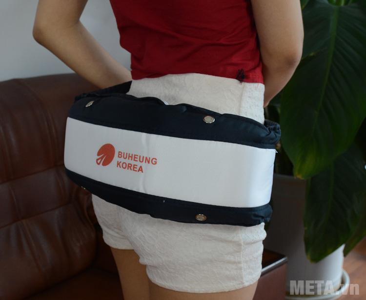 Đai massage Buheung HMO-2005LB có thể sử dụng cho vùng mông