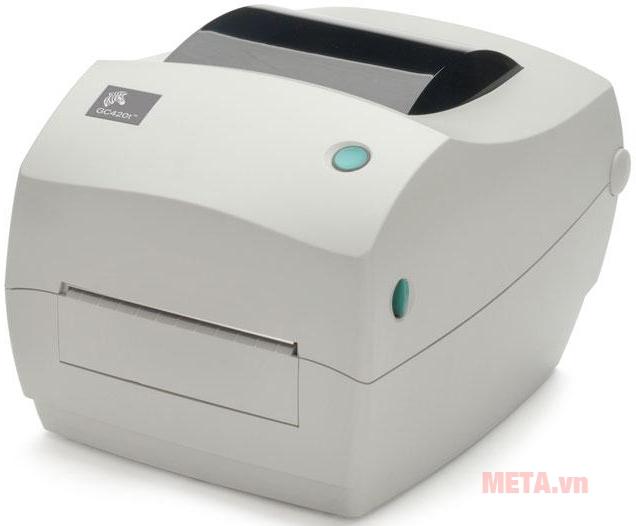 Máy in tem nhãn, mã vạch Zebra GC420T thiết kế nhỏ gọn phù hợp với mọi diện tích để bàn