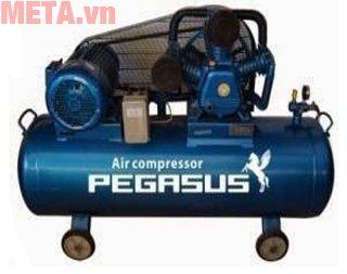 Máy nén khí Pegasus TM-W-0.67/8 truyền động bằng dây đai