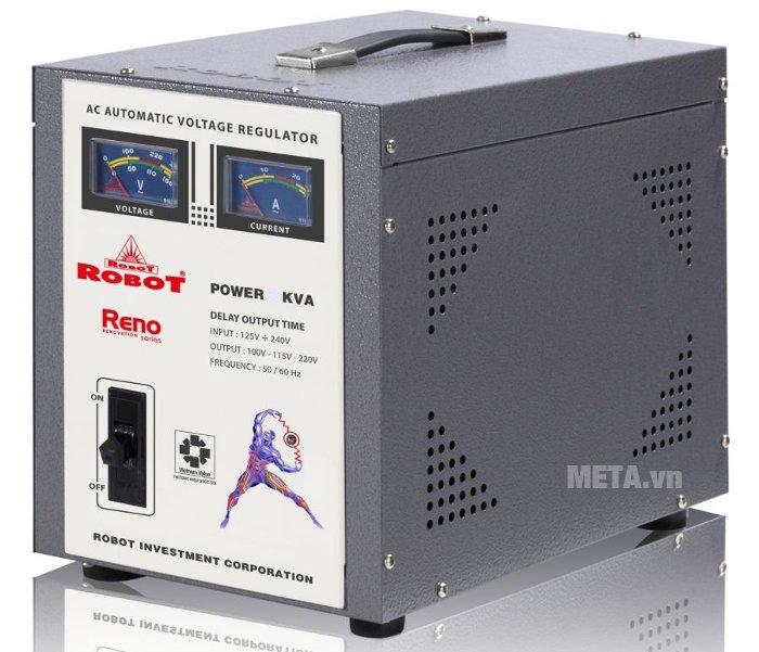 Ổn áp Robot Reno 8KVA tự động làm ổn định nguồn điện khi nguồn điện lưới bị thay đổi