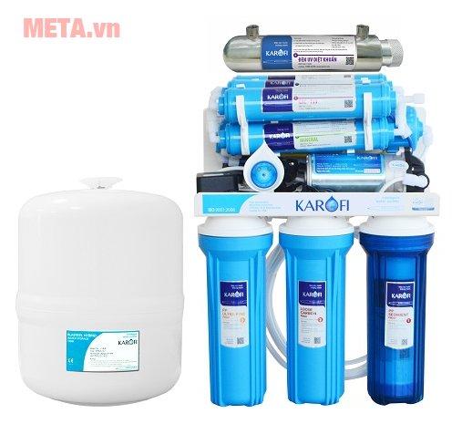 Máy lọc nước Karofi tiêu chuẩn SRO 9 cấp lọc KSI90 (Vỏ tủ IQ)