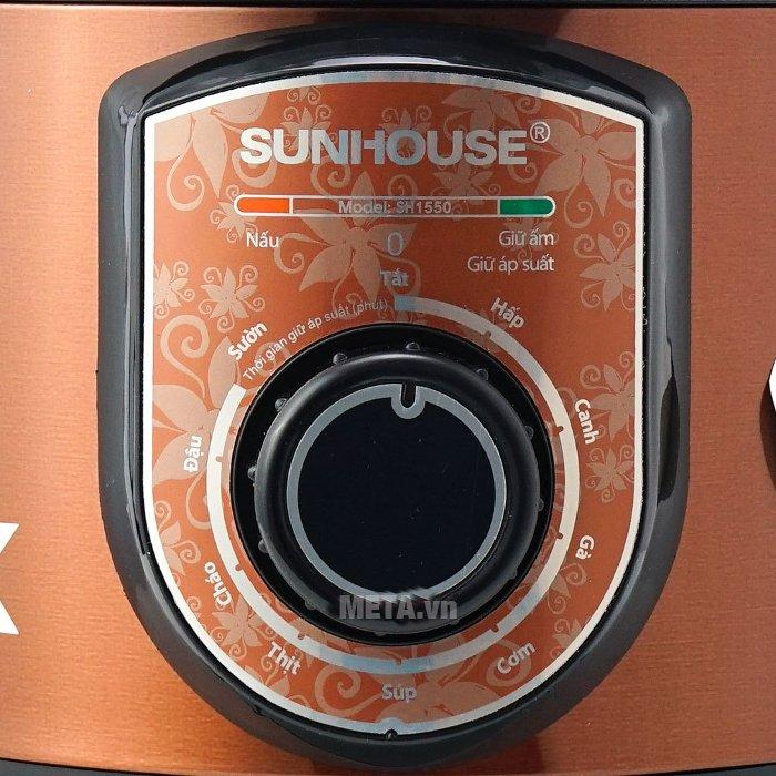 Nồi áp suất điện đa năng Sunhouse SH1550 có bảng điều khiển tiếng Việt