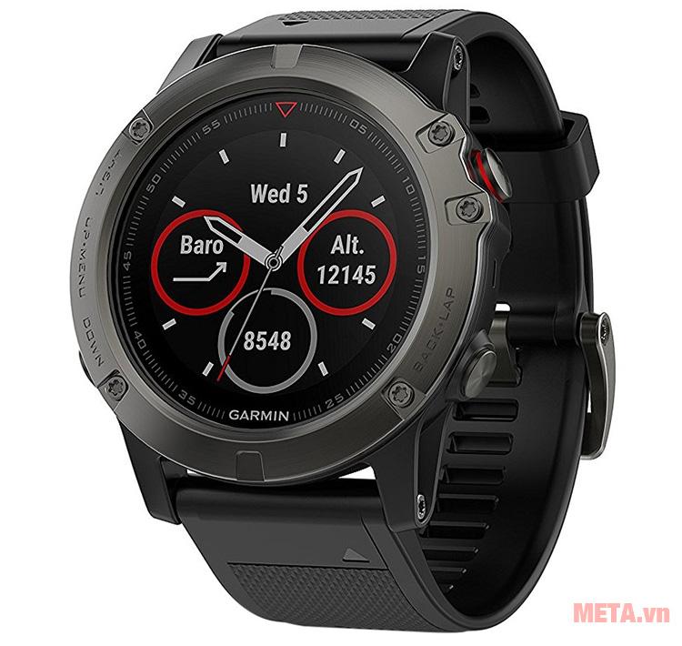 Vòng đeo tay theo dõi sức khỏe Garmin Fenix 5X có các chức năng như 1 chiếc đồng hồ