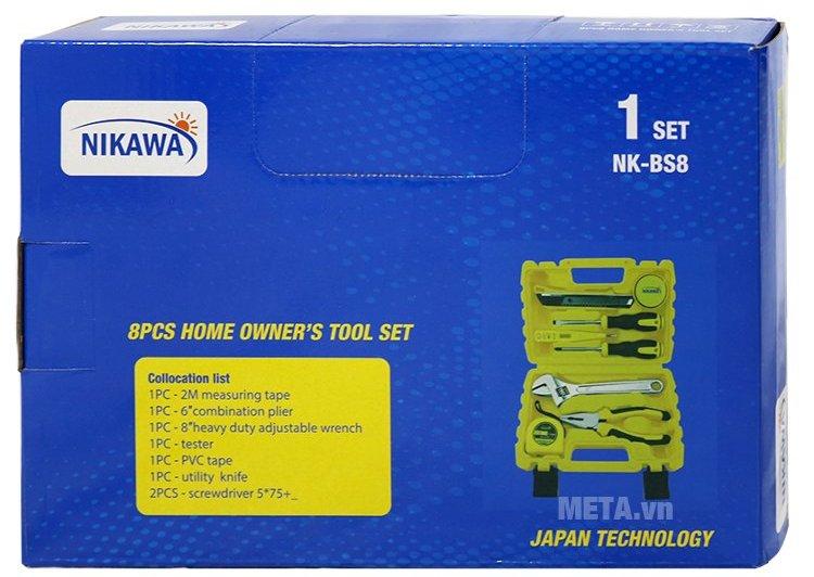 Bộ dụng cụ 8 món Nikawa NK-BS008 sản xuất theo công nghệ Nhật Bản